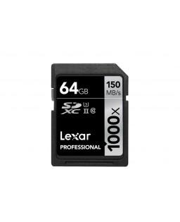 LEXAR SDXC 64 GB PROFESSIONAL 1000X 150 MB/S